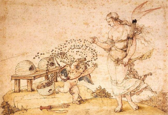 'Cupid the Honey Thief' by Albrecht Durer 1514 {{PD-Art}}